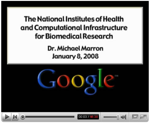 NIH at Google Tech Talks