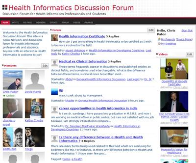 Health Informatics Discussion Forum – The Health Informatics Blog